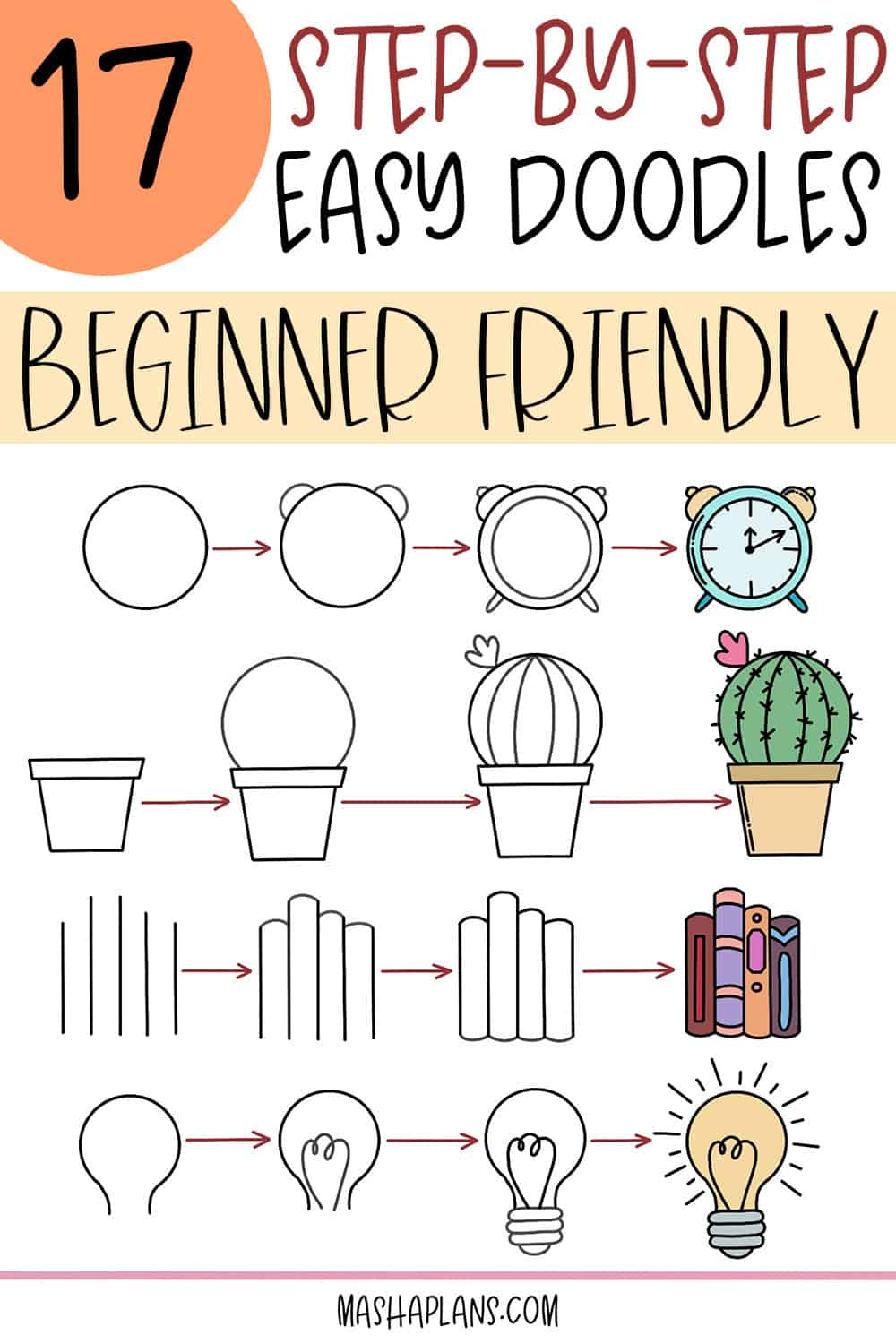 17 Easy Doodles To Draw In Your Bullet Journal | Masha Plans