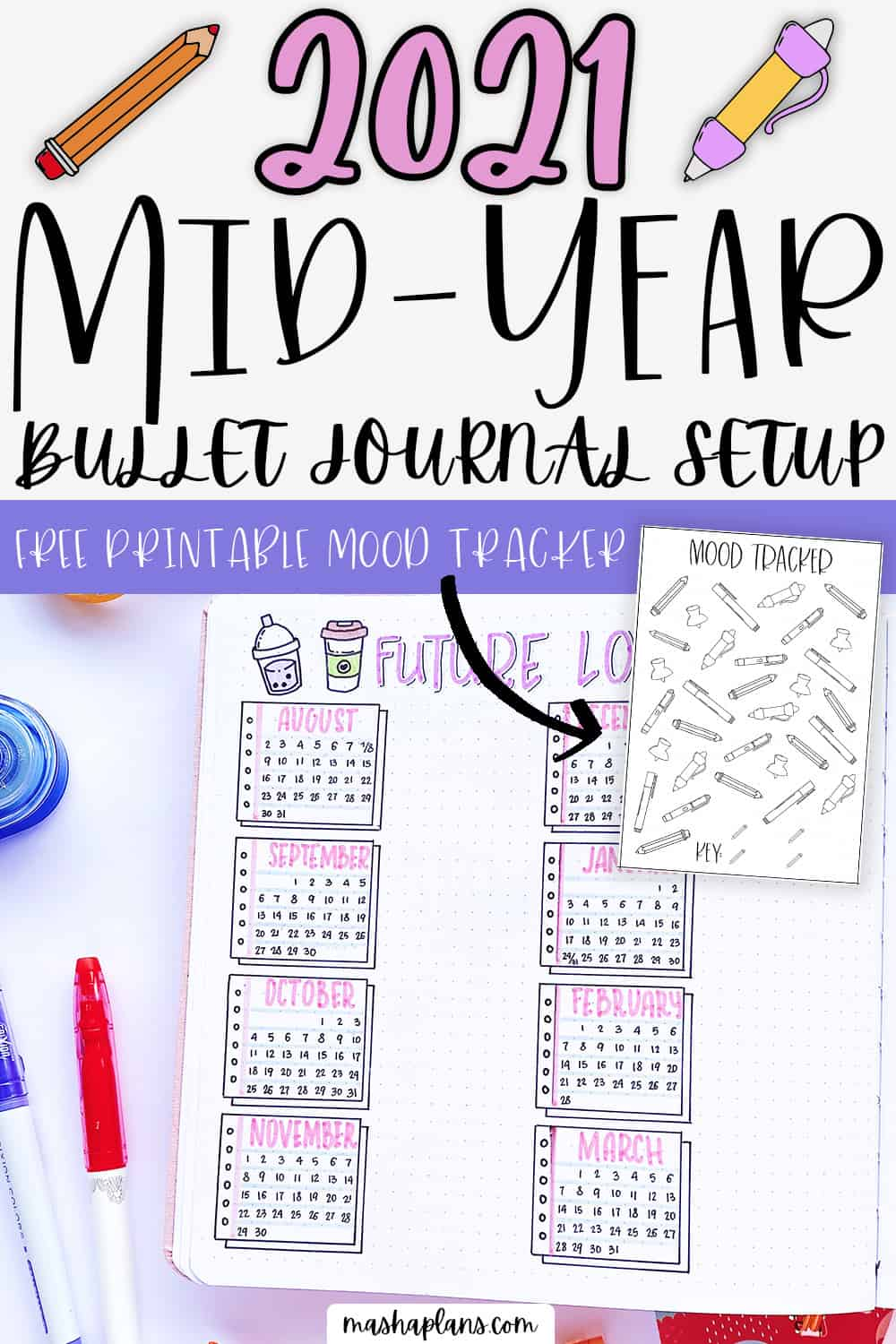 August 2021 Plan WIth Me and New Bullet Journal Setup | Masha Plans