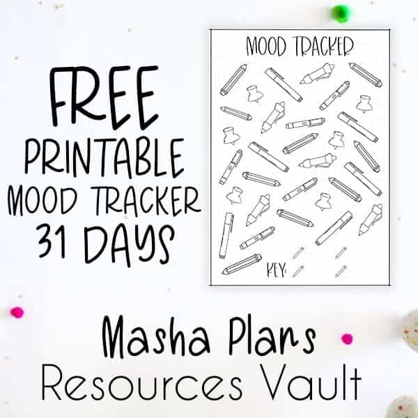 Masha Plans Resources Vault - Free Printable Mood Tracker