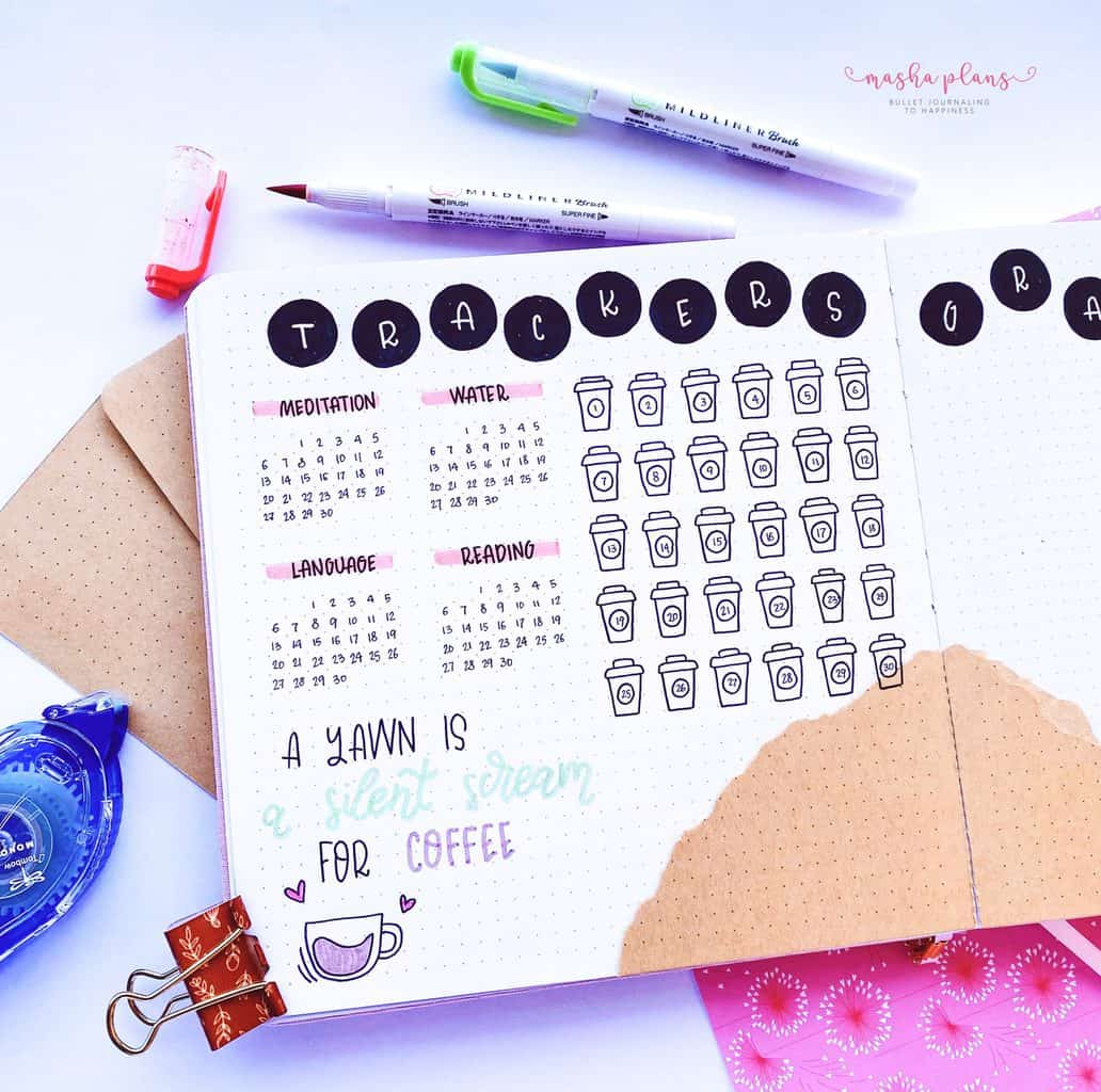 Habit and Mood Tracker In My Bullet Journal | Masha Plans