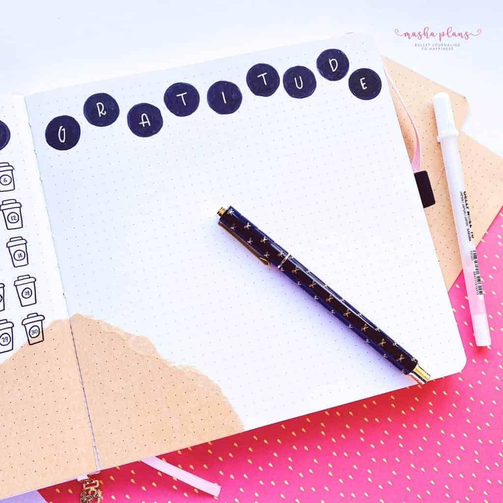 Gratitude Log In My Bullet Journal | Masha Plans