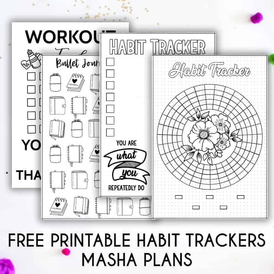 Free Printable Habit Trackers | Masha Plans