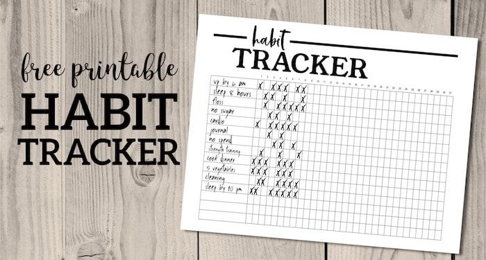 Printable Habit Tracker By Paper Train Design | Masha Plans