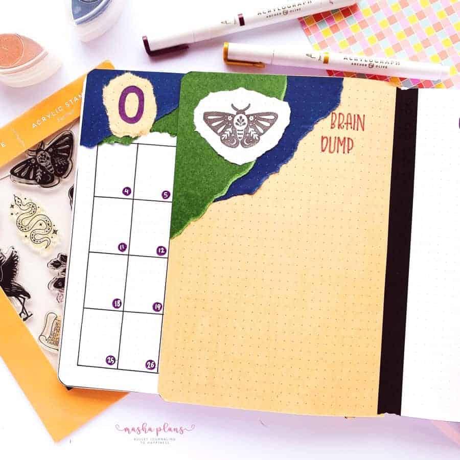 2021 October Bullet Journal Setup, gratitude log | Masha Plans