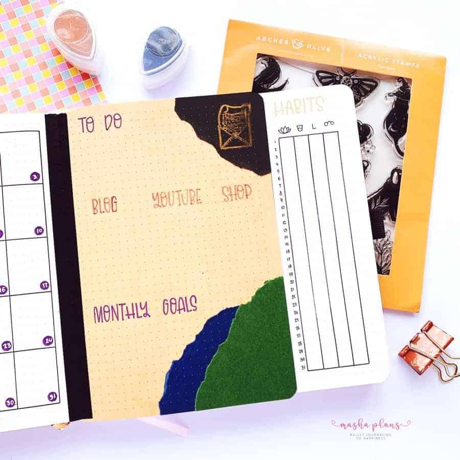 2021 October Bullet Journal Setup, habit tracker | Masha Plans