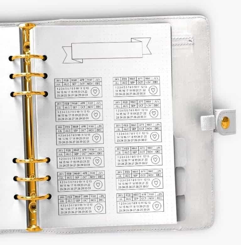 Stamp Style Mini Trackers By Hanna Nilsson Designs | Masha Plans