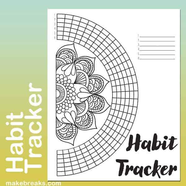 Mandala Circle Tracker By Make Breaks | Masha Plans