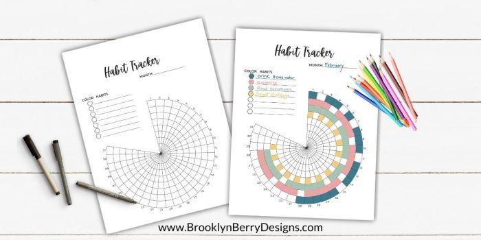 Circle Habit Tracker By Brooklyn Berry Designs | Masha Plans
