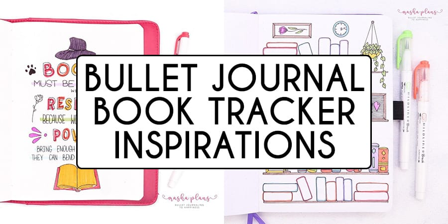 31+ Creative Bullet Journal Book Tracker Pages | Masha Plans